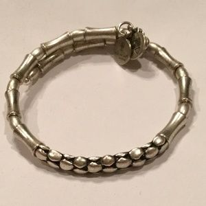 Alex & Ani Wrap Style Silver Tone Beaded Bracelet